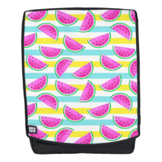 Cool Hipster Watermelon Striped Pattern Backpack