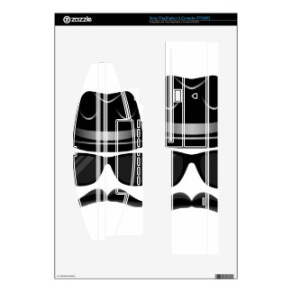 Cool Hipster with mustache, hat and sunglasses Decal For The PS3