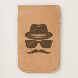 Cool Hipster with mustache, hat and sunglasses iPhone 6/6S Case