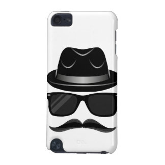 Cool Hipster with mustache, hat and sunglasses iPod Touch (5th Generation) Case