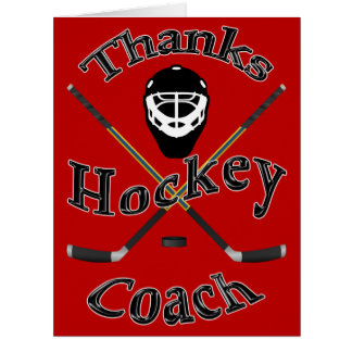 Cool Hockey Coach Cards in Your COLORS