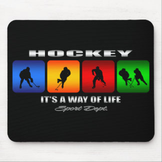 Cool Hockey It Is A Way Of Life Mouse Pad