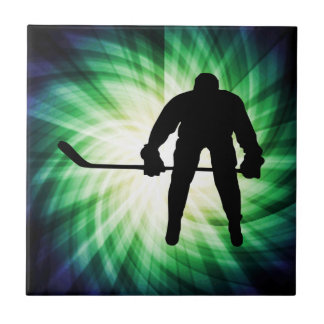 Cool Hockey Player Ceramic Tile