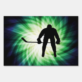 Cool Hockey Player Sign