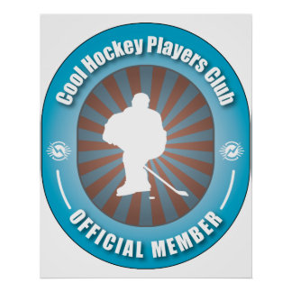 Cool Hockey Players Club Poster
