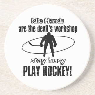 cool hocky designs coasters