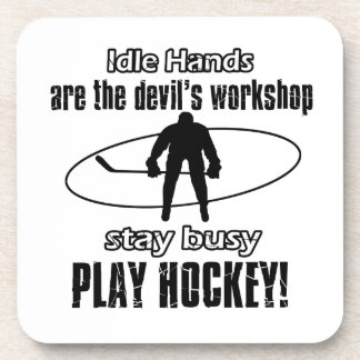 cool hocky designs drink coasters