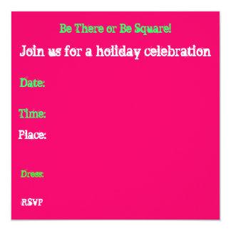 "Cool Holiday Invitation 5.25"" Square Invitation Card"
