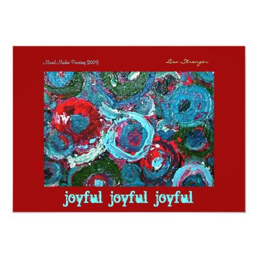 Cool Holiday Invitation, joyful 5x7 Paper Invitation Card