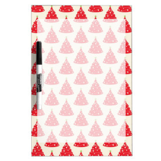 Cool Holiday Red Christmas Tree Pattern Xmas Dry-Erase Board