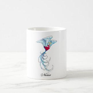 Cool Holy Angel Heart with Wings tattoo Coffee Mug
