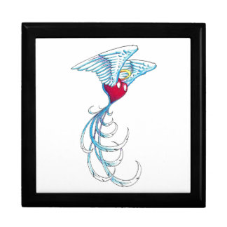 Cool Holy Angel Heart with Wings tattoo Jewelry Box