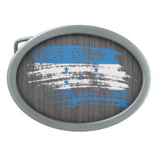 Cool Honduran flag design Oval Belt Buckle