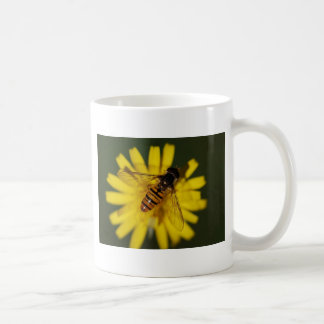 Cool Honey Bee on Flower in Nature Photography Coffee Mug
