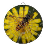 Cool Honey Bee on Flower in Nature Photography Dartboard