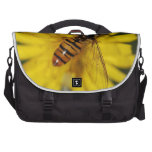 Cool Honey Bee on Flower in Nature Photography Laptop Commuter Bag