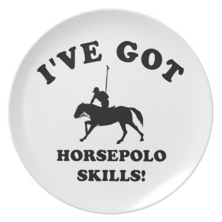 COOL HORSE POLO SKILLS DESIGNS PLATES