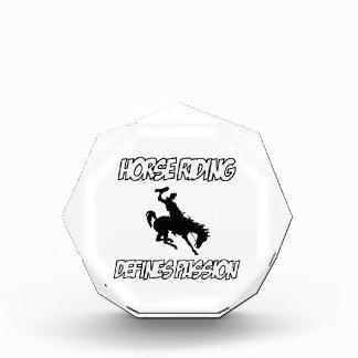 Cool horse riding designs acrylic award