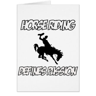 Cool horse riding designs card