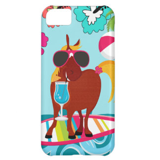 Cool Horse Surfer Dude Summer Fun Beach Party Cover For iPhone 5C