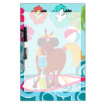 Cool Horse Surfer Dude Summer Fun Beach Party Dry-Erase Whiteboards
