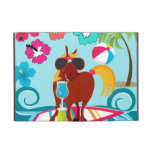 Cool Horse Surfer Dude Summer Fun Beach Party Covers For iPad Mini
