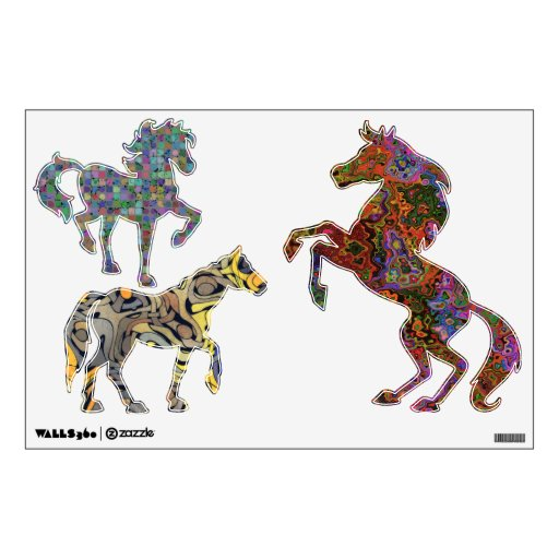 COOL HORSES Wall Decals