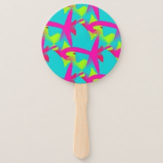 Cool Hot Colors on Hand Fan