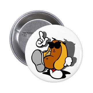 Cool Hot Dog Dancer 2 Inch Round Button