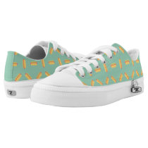 Cool Hot Dogs Pattern Low-Top Sneakers