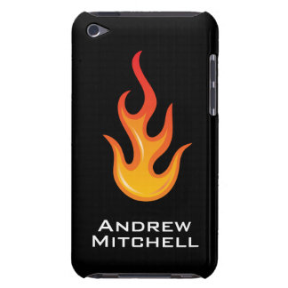 Cool hot rod flame personalized iPod case