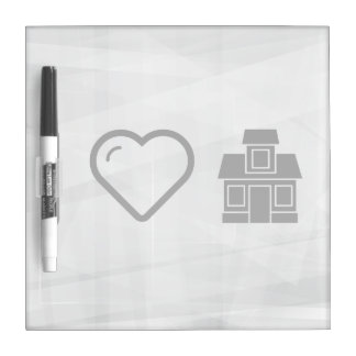 Cool House Dry Erase Whiteboard
