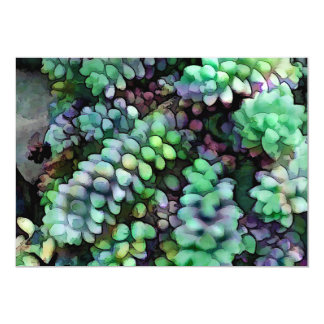 Cool Hued Burro's Tails in the Hot Desert Invitations