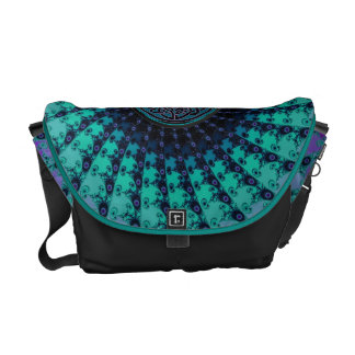Cool Hued Fractal Fan Celtic Messenger Bag
