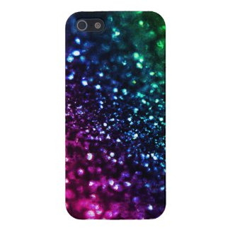 Cool Hued Rainbow Glitter iPhone Case Cover For iPhone 5