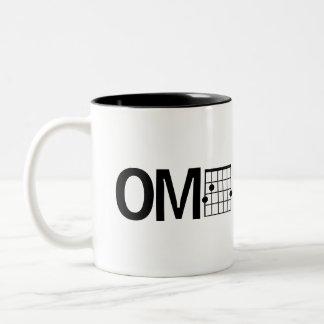 Cool Humor OMG Guitar G Major Chord Two-Tone Coffee Mug