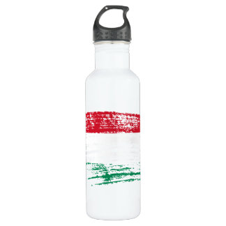 Cool Hungarian flag design Stainless Steel Water Bottle