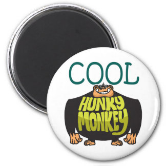 Cool Hunky Monkey 2 Inch Round Magnet