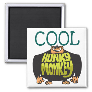 Cool Hunky Monkey 2 Inch Square Magnet
