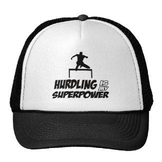 Cool Hurdling designs Trucker Hat
