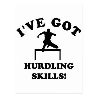 COOL hurdling skills DESIGNS Postcard