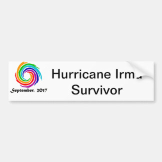 Cool Hurricane Irma Survivor Art Bumper Sticker