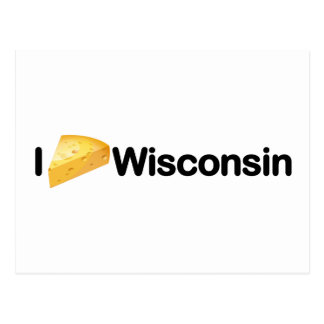 Cool, I Cheese Wisconsin (I Love Wisconsin) design Postcards