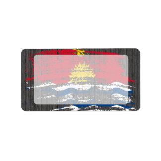 Cool I-Kiribati flag design Personalized Address Label