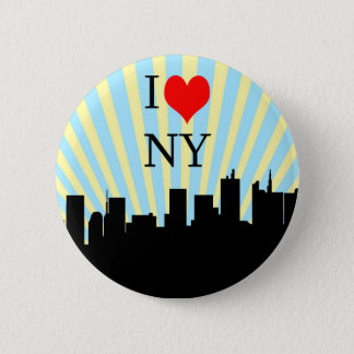 Cool I Love Heart New York Design Pinback Button