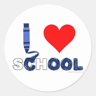 Cool ! I love school Classic Round Sticker