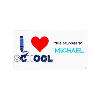 Cool ! I love school (Name Labels) Address Label
