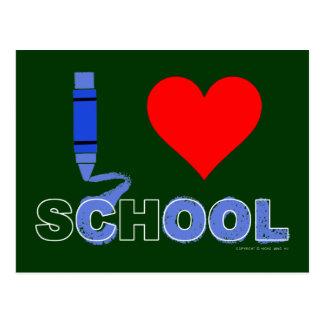 Cool ! I love school Postcard