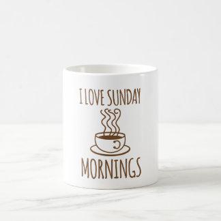 Cool 'I love Sunday Mornings' Coffee Cup