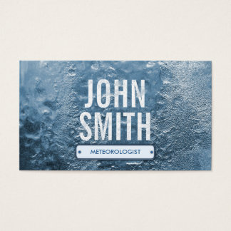 Cool Ice Age Meteorological Business Card